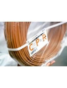 cavo pentapolare fror cpr fs18  gommato antifiamma  filo elettrico 450v 750v 5 g 2,5 marrone 100 metri ff5fs18or185g2.5