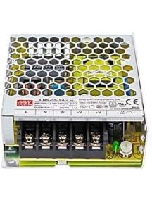 alimentatore mean well  lrs 35 24 potenza max 36w dc 12v ip20 trasformatore per led 1989